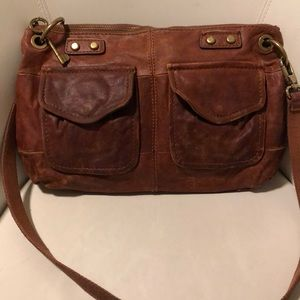Fossil distressed leather crossbody bag